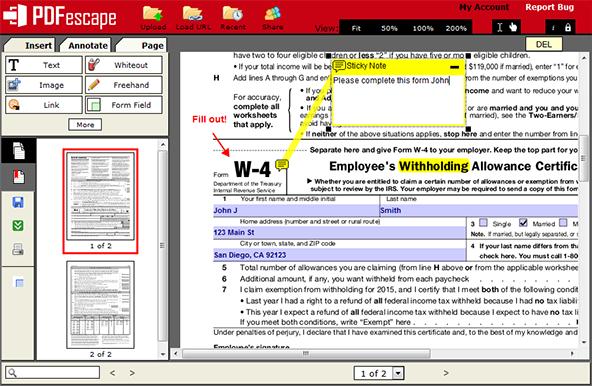 Pdfescape What Is Pdfescape Edit Pdf Files Free