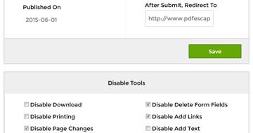 PDFescape - PDFescape Publishing - Distribute PDF Forms and